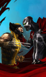 wolverine vs spawn by soft-h