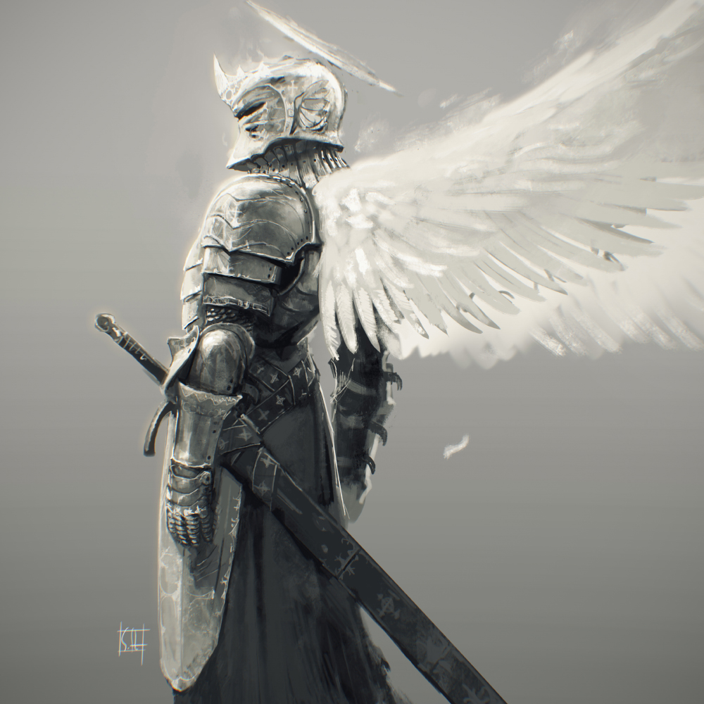 Knight by soft h on deviantart for Cool fantasy drawings