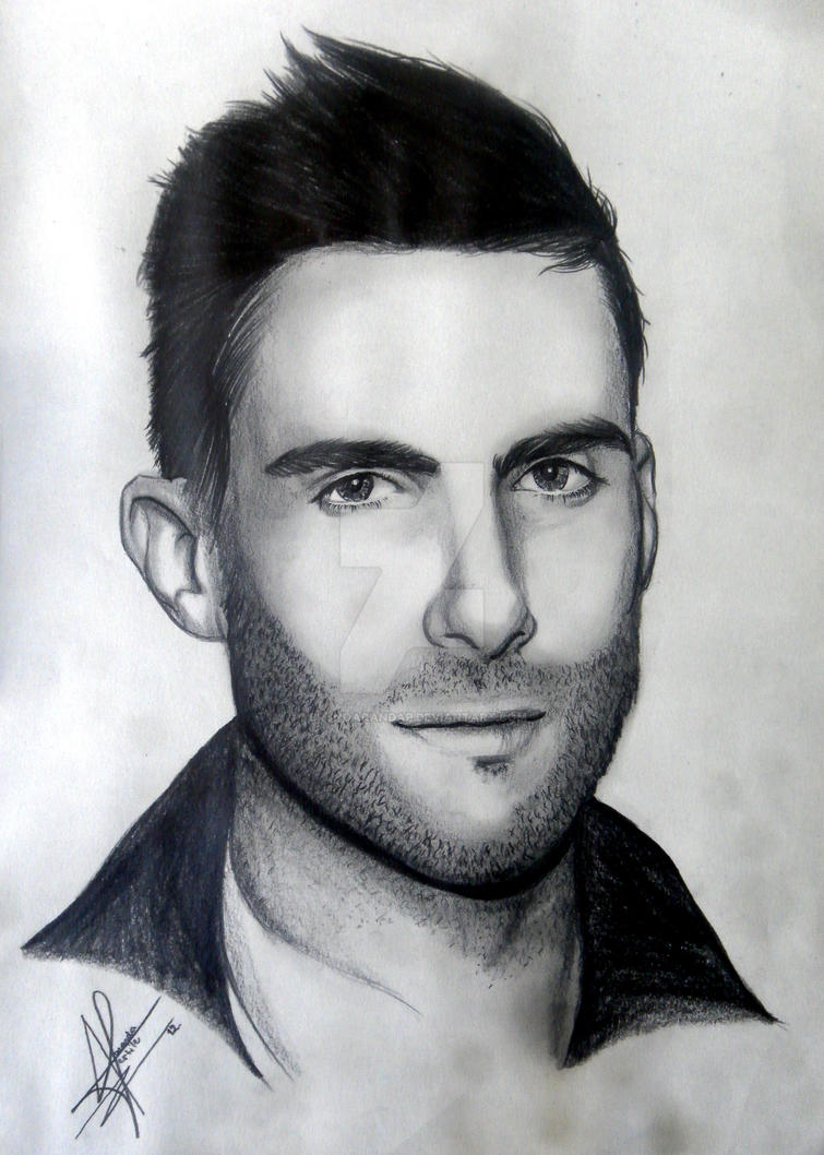 adam levine by brunoarandap