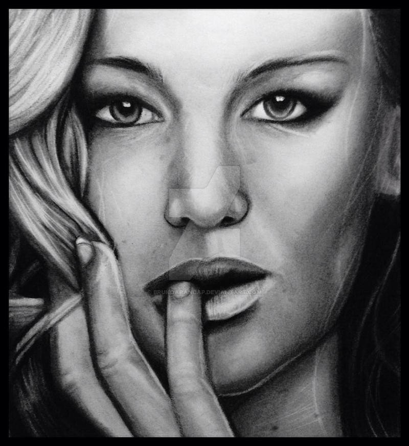 Jennifer Lawrence pencil art by brunoarandap