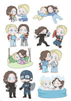 Steve and Bucky babies by SilasSamle