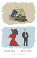 Bucky Blue, Peggy Red by SilasSamle