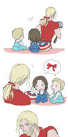 Steve and Bucky babies: Ribbon