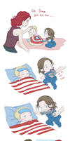 Steve and Bucky babies: Sick
