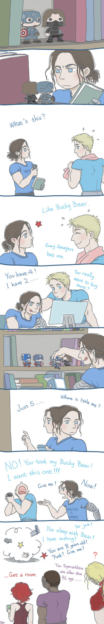 Steve and Bucky: Funko by SilasSamle