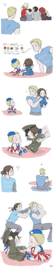 Steve and Bucky Babies: Ribbon 2