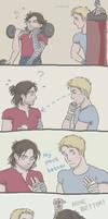 Steve and Bucky: Physical Training