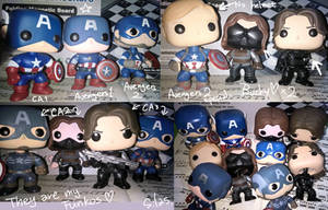 My Captain America and Winter Soldier Funkos