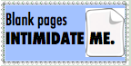 Blank Page Intimidation Stamp by pandapie578