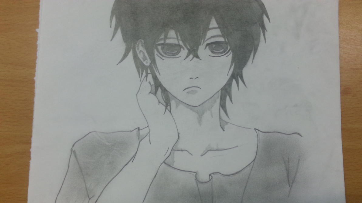 My Drawing: Black and white guy by LeeTaemin97