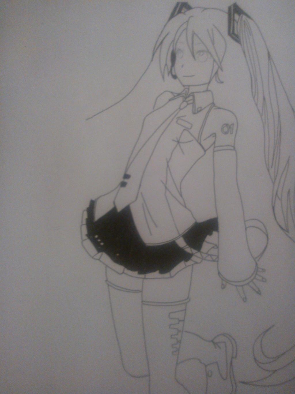 My Drawing: Miku Hatsune V3 - not to finish by LeeTaemin97