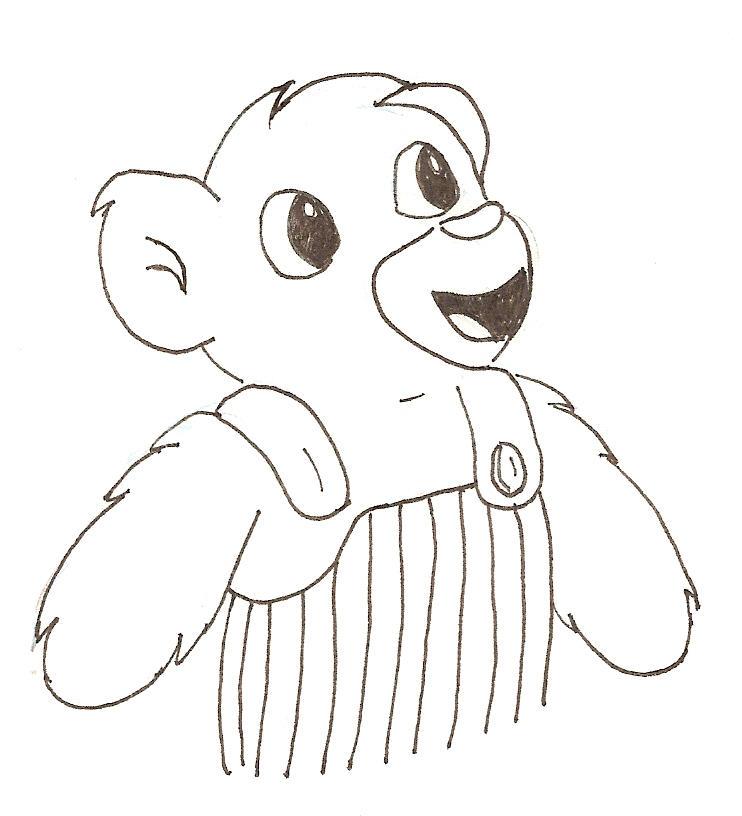 corduroy bear coloring page - corduroy bear by aldenar on deviantart