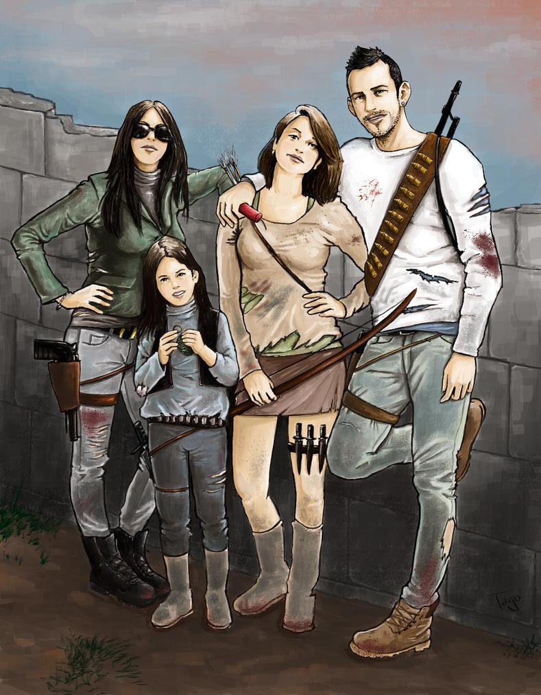 Family vs Walking dead by Tago73
