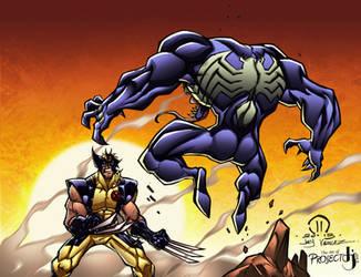 Venom vs Wolverine COLORS by ArtOfTDJ
