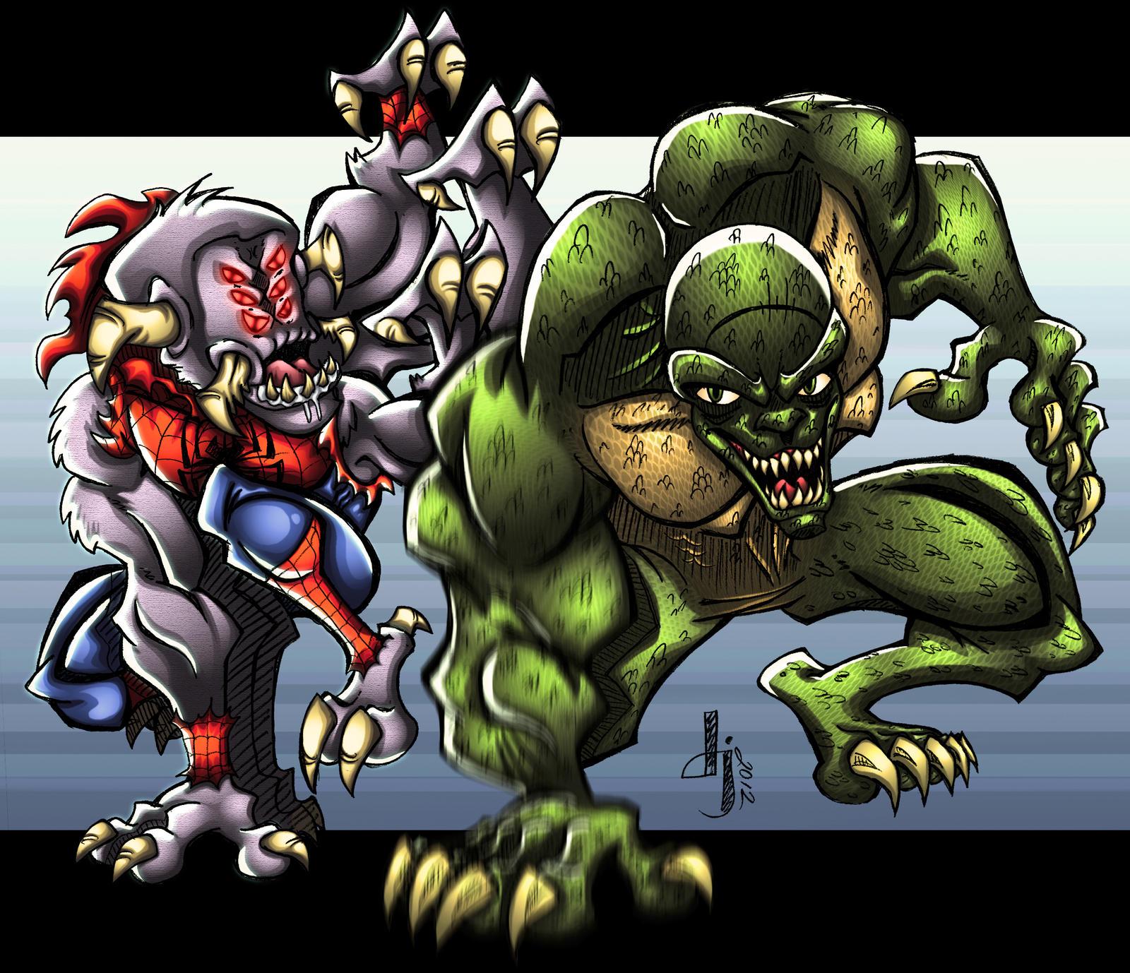 Amazing Wallpaper Marvel Lizard - lizard_vs__man_spider_commission_by_projectdj-d5rbdo5  Perfect Image Reference_84851.jpg