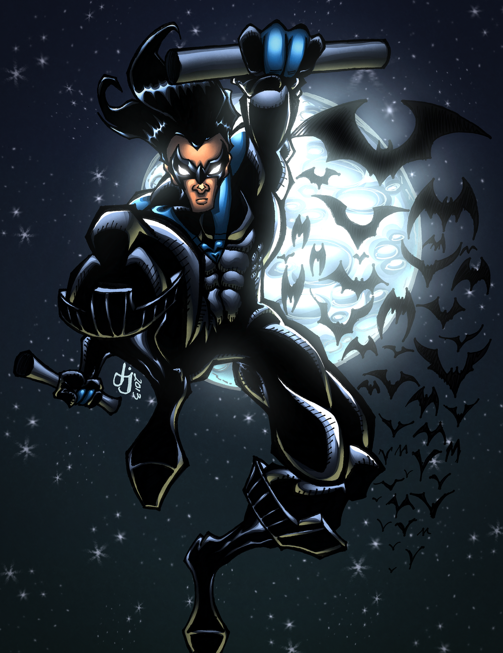 The Dark Nightwing COLORS by MadcapLLC