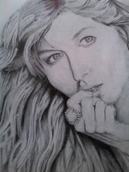 Gisele Bundchen Ballpoint Pen Drawing by rae3604