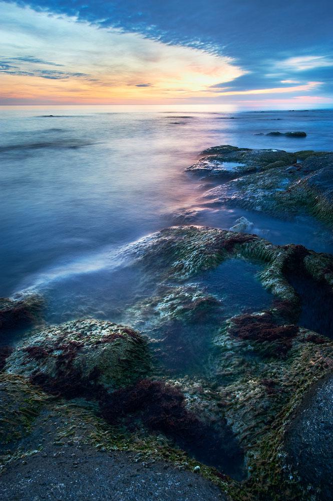 Sunset Caspian Seashore by elimoe