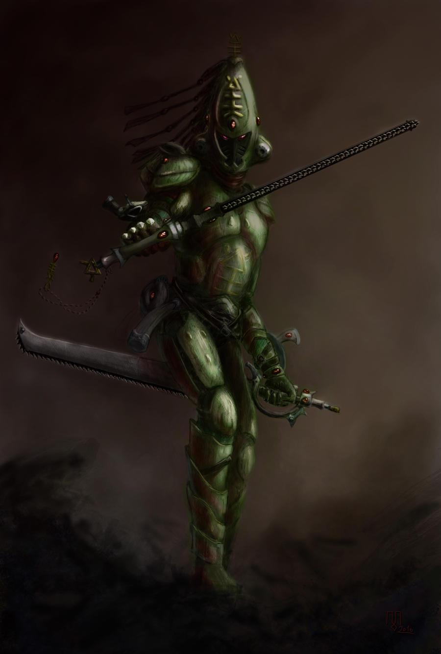 Eldar Striking Scorpion Exarch by Zarem