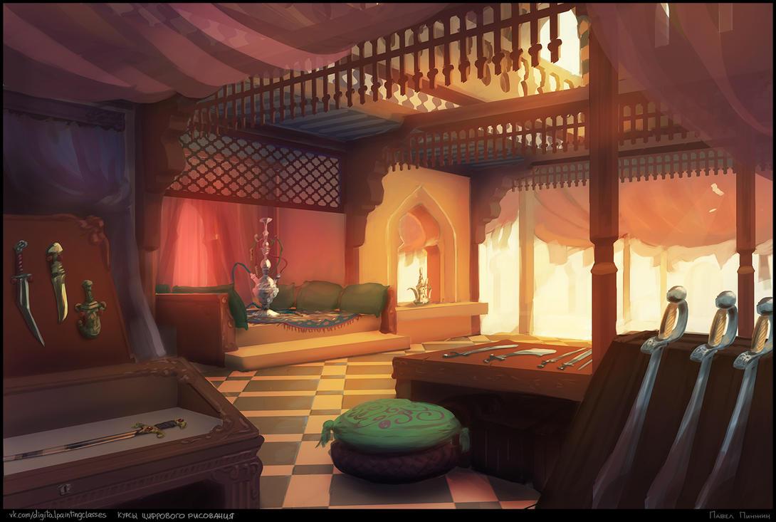 Arabic Weaponsmith Shop by Zarem