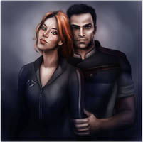 Kaidan and Gina by CocaineJia