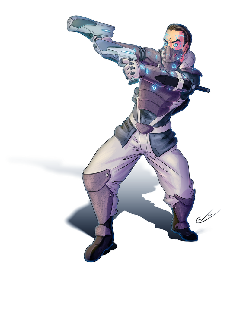 Synth Enforcer by Qualinwraith