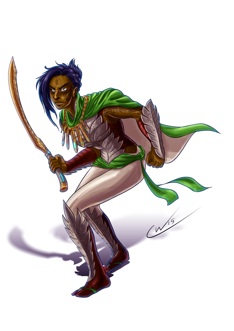 Callista the Harad Warrior by Qualinwraith