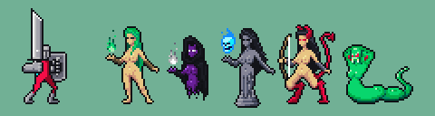 Succubus Characters Sprite