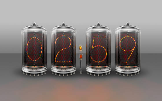 Nixie Tube Clock Illustration