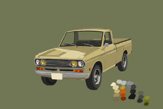 1970 Datsun - Digital paint study