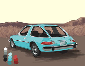 1975 AMC Pacer - Concept car - Digital paint study