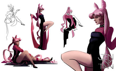 Black Lady lifedrawing selects by jennytan