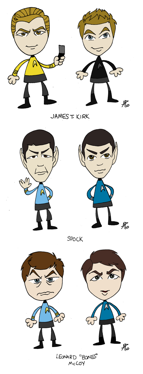 Star Trek: Old and New by aerettberg