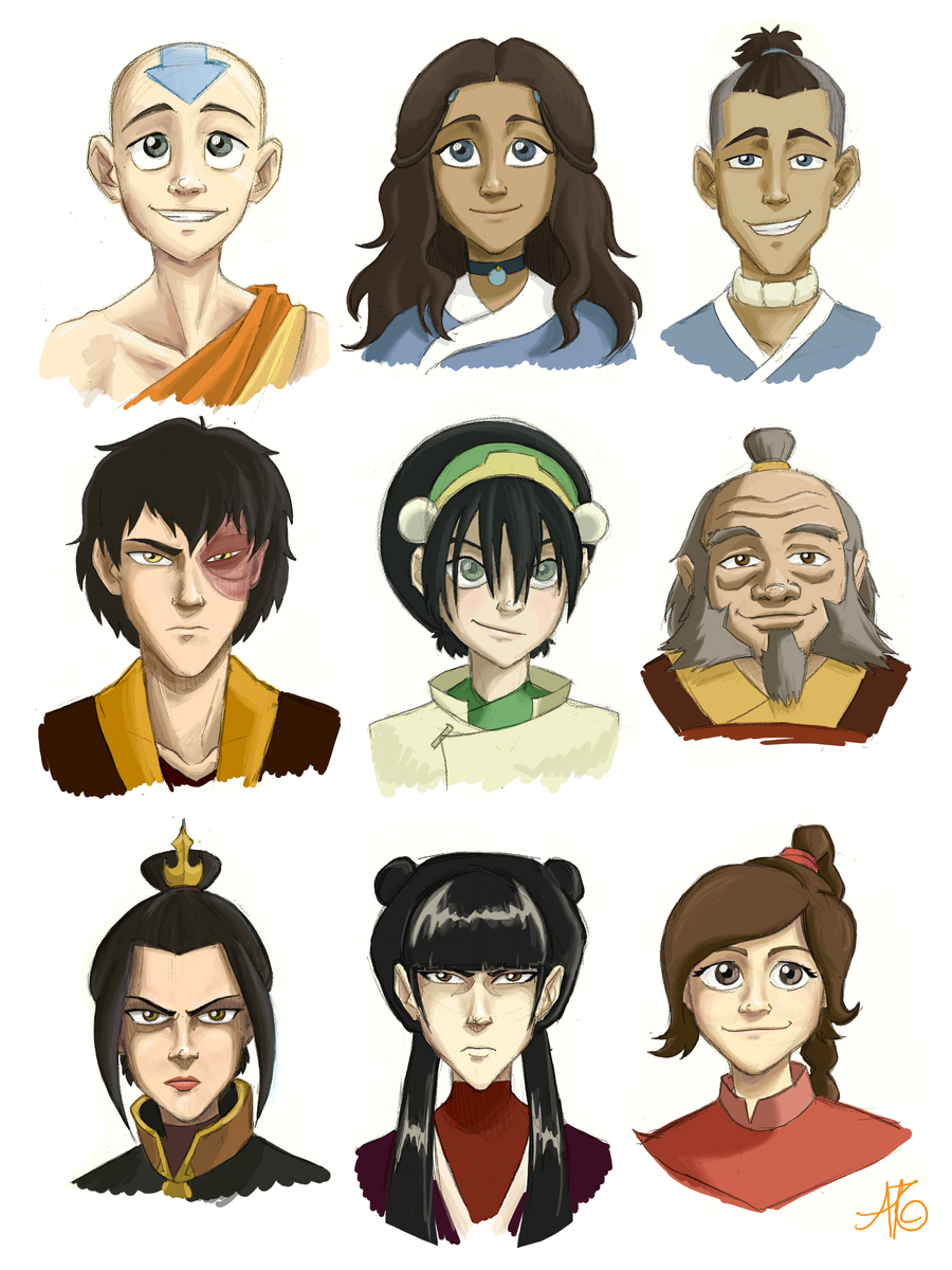 Character Design Avatar The Last Airbender : Avatar characters by aerettberg on deviantart