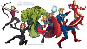 The Avengers by aerettberg