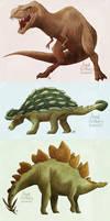 Dinosaurs by aerettberg
