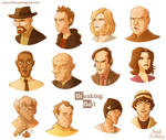 Breaking Bad - color caricatures