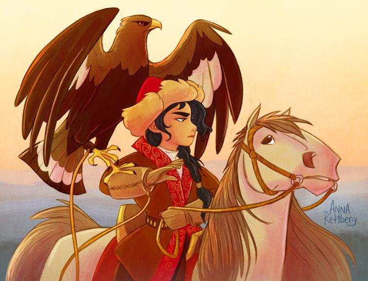 Eagle Huntress by aerettberg