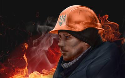 Ukrainian Hero by SilmaSan