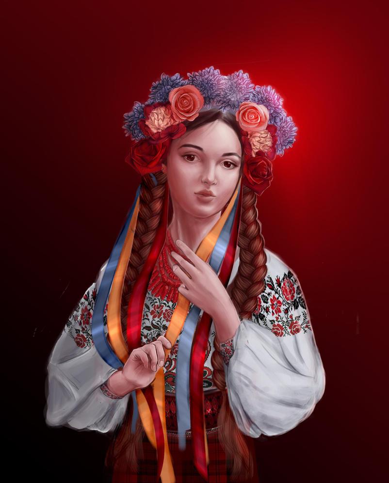 Ukrainian girl by SilmaSan