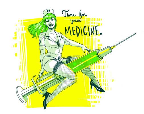 Mistress Morphine Rides Again - Covid Shots!!