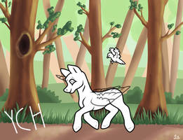Trotting In The Forest: Pony YCH (OPEN) by Funny-arts