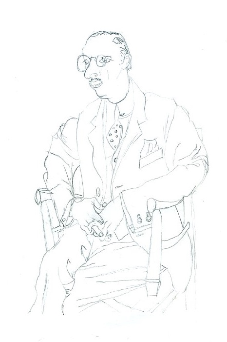 Pad016   Picasso's 'Portrait of Igor Stravinsky' by Roscoe3000