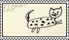 starry cat stamp by fogIake