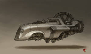 Sci-Fi vehicle by chvacher