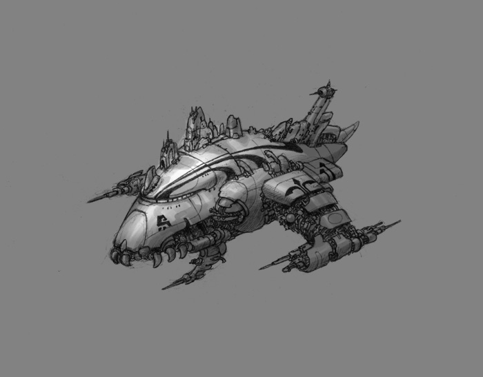 Spaceship concept by chvacher