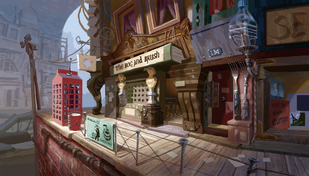 Flushed Away -Concept art by chvacher