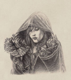 Cloaked lady
