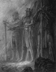 Land Of Stone And Steel -preliminary sketch