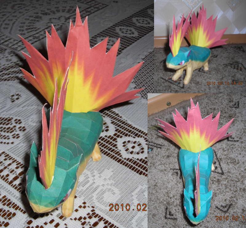 Quilava papercraft by Weirda208